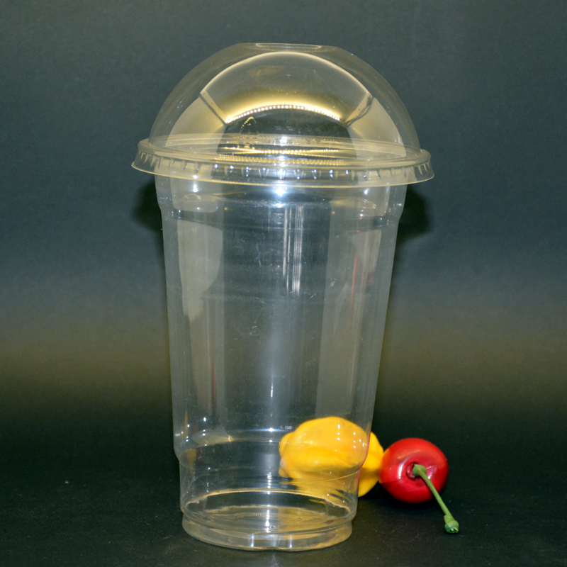 Customized Disposable Plastic Pet Cup with Lid