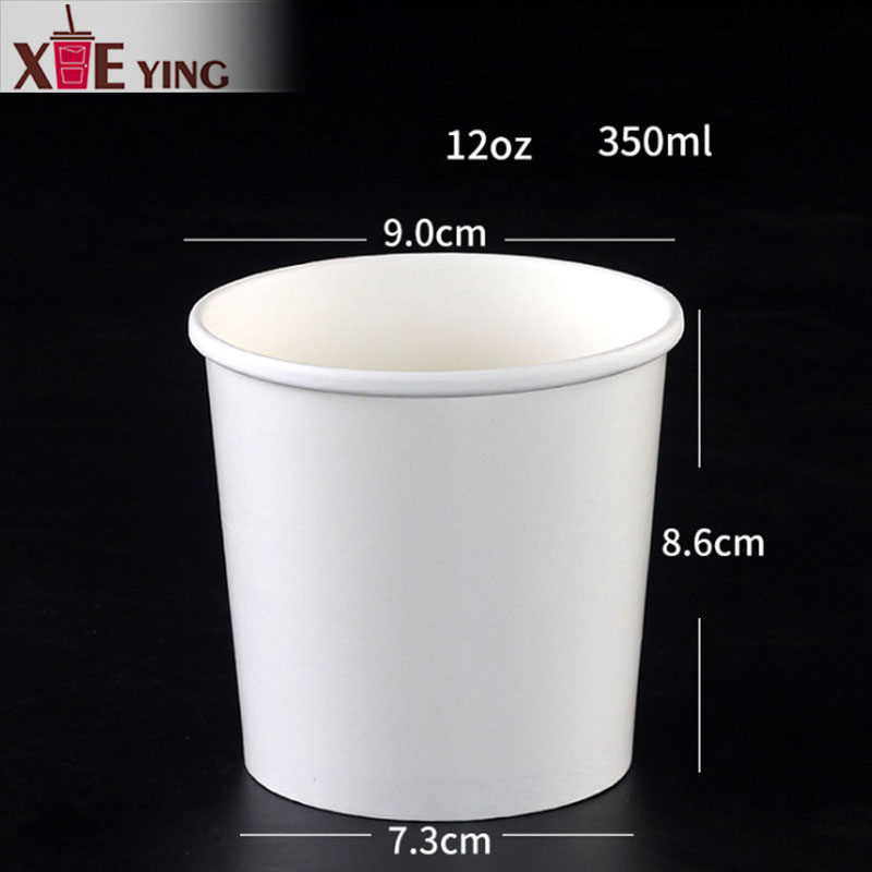 8oz 320ml ice cream paper cups bowl with lids