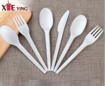 Compostable eco friendly biodegradable PLA plastic cutlery